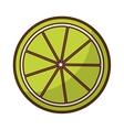 lemon citrus fruit icon vector image vector image