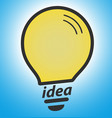 light bulb on blue background concept vector image vector image