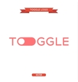 logo icon toggle trend in flat vector image