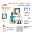 Medical sheckup infographic flat design vector image