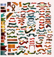 mega collection of ribbons and banners vector image