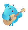 monster playing guitar vector image