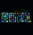 new 2021 year header light background future vector image
