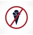 No ice cream symbol vector image