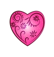 patterned heart vector image