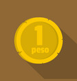 peso icon flat style vector image vector image