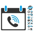 Phone Call Calendar Day Icon With Bonus vector image vector image
