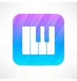 piano keyboard icon vector image vector image