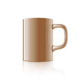 Realistic mug vector image vector image