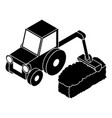road tractor icon simple style vector image