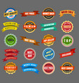 round labels and stickers vector image vector image