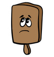 sad kitchen board on white background vector image vector image