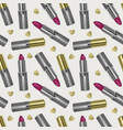 seamless pattern with realistic 3d lipstick vector image