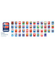set flags europe vector image vector image