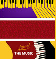 set music abstract background piano keys on color vector image vector image