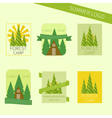Set of travel and camping logo Outdoor emblems vector image vector image
