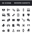 set simple icons modern gadget vector image