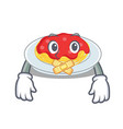 silent spaghetti character cartoon style vector image