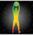 silhouettes of people doing fitness and crossfit vector image vector image