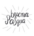 simple hand lettering happy easter in italian vector image vector image