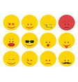 smiley faces group vector image vector image