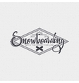 Snowboard badge and label It can be used to design vector image vector image