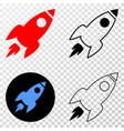 space rocket eps icon with contour version vector image