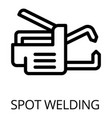 spot welding icon outline style vector image