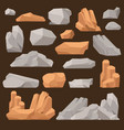 stones and rocks in cartoon style big vector image