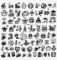 travel transportation - icon set design vector image