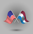 two crossed american and flag of missouri vector image vector image