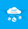 voip icon internet call concept connection vector image vector image