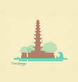 water palace tirta gangga landmark in bali vector image vector image