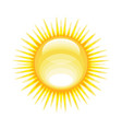 weather icon - shiny sun in sky vector image vector image