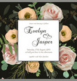 wedding floral invitation invite card with vector image vector image