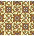 yellow orange paisly pattern vector image vector image