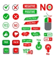 Yes No icons set simple style vector image vector image
