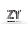 zy z y lines letter design with creative elegant vector image