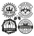 vintage brewery logo emblems and badges vector image