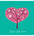 romantic card with of garden and valentine sign vector image