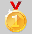 Shining gold medal vector image