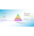 3d infographic template with embossed triangle vector image vector image