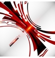 Abstract black and red perspective techno vector image vector image