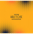 abstract halftone dots yellow background vector image vector image