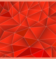 abstract red geometric background from triangles vector image vector image