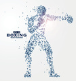 Athletes image composed of particles vector image vector image