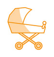 baby cart isolated icon vector image vector image
