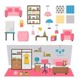 Baby kids room interior set