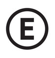 basic font for letter e icon design vector image vector image