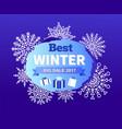 best winter big sale 2017 vector image vector image